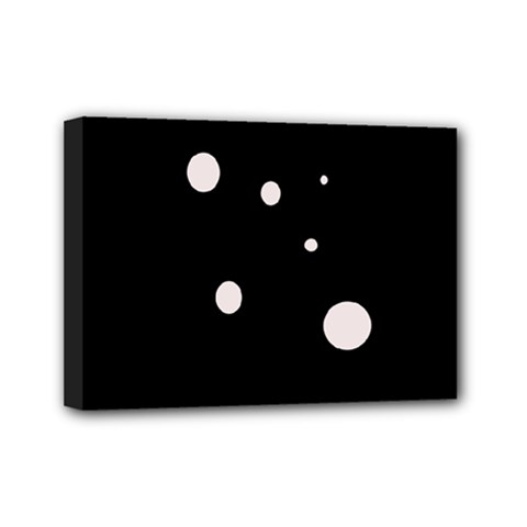 White dots Mini Canvas 7  x 5