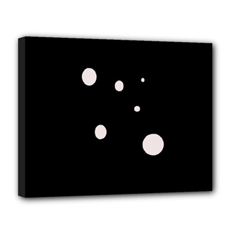 White dots Canvas 14  x 11