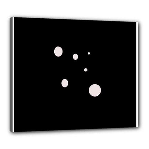 White dots Canvas 24  x 20