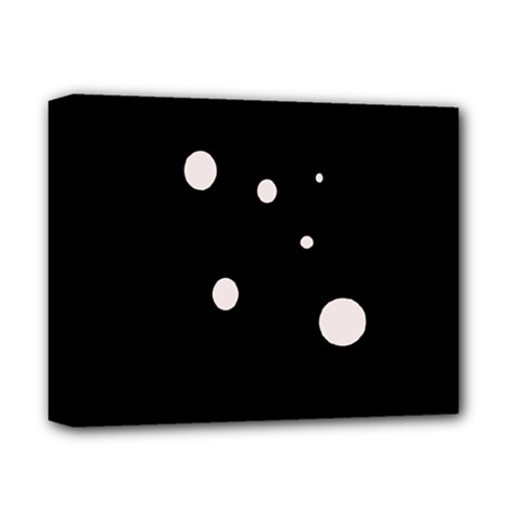 White dots Deluxe Canvas 14  x 11