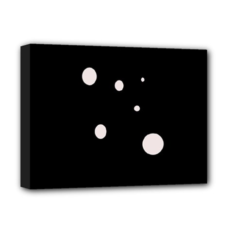 White dots Deluxe Canvas 16  x 12