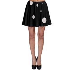 White dots Skater Skirt