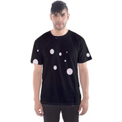 White dots Men s Sport Mesh Tee