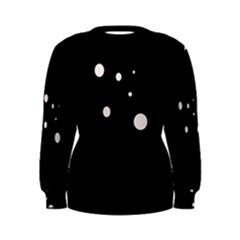 White dots Women s Sweatshirt