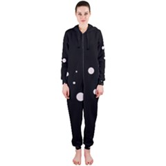 White dots Hooded Jumpsuit (Ladies)
