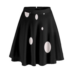 White Dots High Waist Skirt