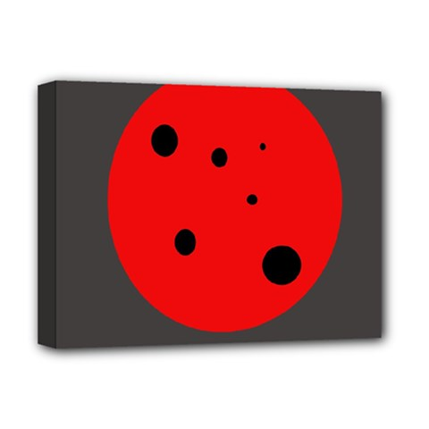 Red circle Deluxe Canvas 16  x 12