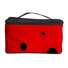 Red circle Cosmetic Storage Case
