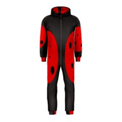 Red circle Hooded Jumpsuit (Kids)