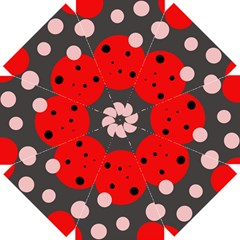 Red and pink dots Straight Umbrellas