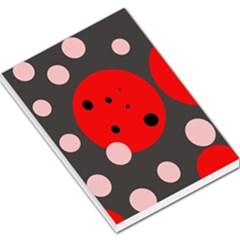 Red and pink dots Large Memo Pads