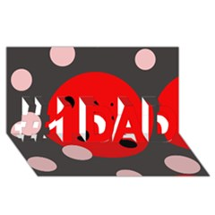 Red and pink dots #1 DAD 3D Greeting Card (8x4)