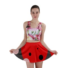 Red and pink dots Mini Skirt