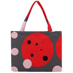 Red and pink dots Mini Tote Bag