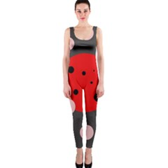 Red and pink dots OnePiece Catsuit
