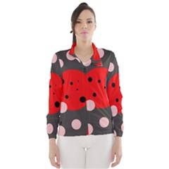Red and pink dots Wind Breaker (Women)