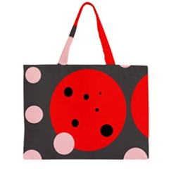 Red and pink dots Large Tote Bag