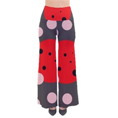 Red and pink dots Pants