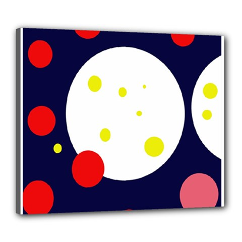 Abstract moon Canvas 24  x 20