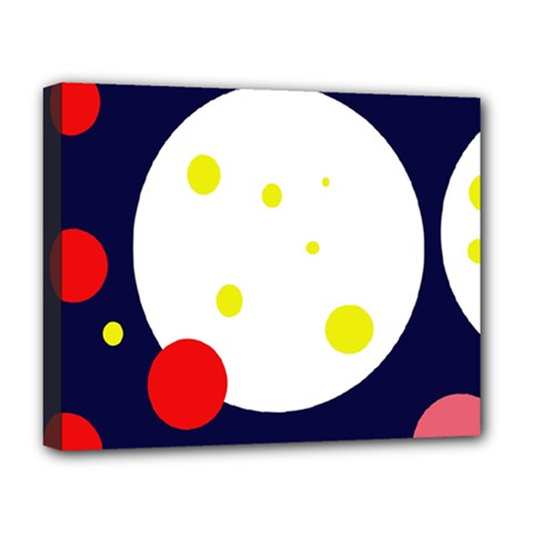 Abstract moon Deluxe Canvas 20  x 16