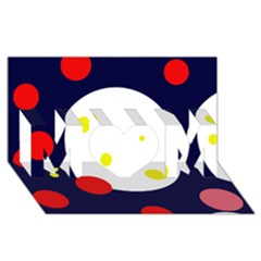 Abstract moon MOM 3D Greeting Card (8x4)