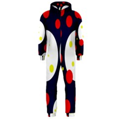 Abstract moon Hooded Jumpsuit (Men)
