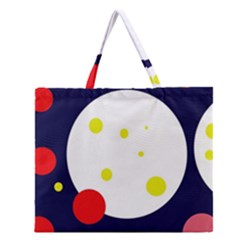Abstract Moon Zipper Large Tote Bag