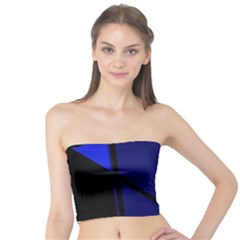 Blue abstraction Tube Top