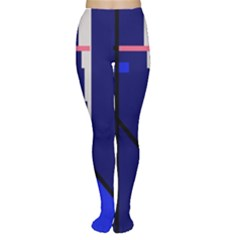 Blue abstraction Women s Tights