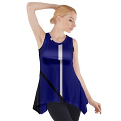 Blue abstraction Side Drop Tank Tunic