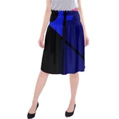 Blue abstraction Midi Beach Skirt