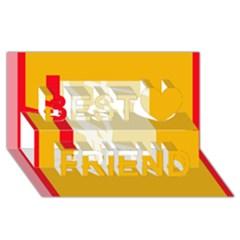 Basketball Best Friends 3D Greeting Card (8x4)