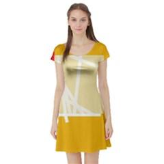 Basketball Short Sleeve Skater Dress
