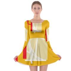 Basketball Long Sleeve Skater Dress
