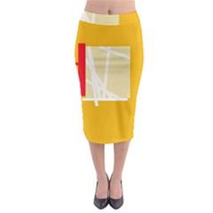 Basketball Midi Pencil Skirt