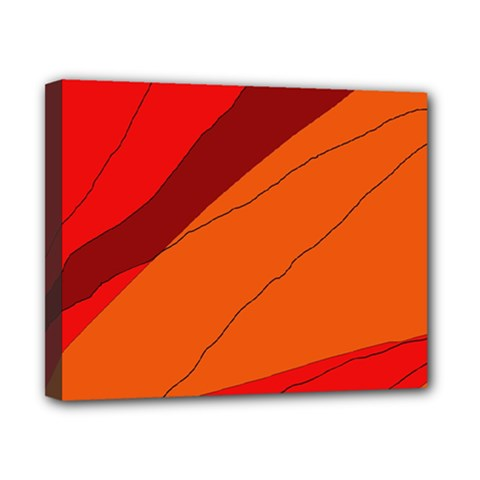 Red and orange decorative abstraction Canvas 10  x 8