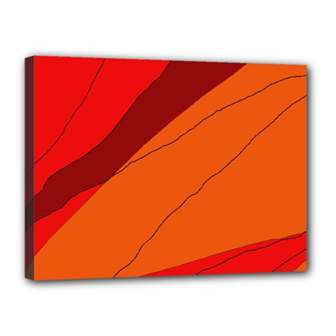 Red and orange decorative abstraction Canvas 16  x 12