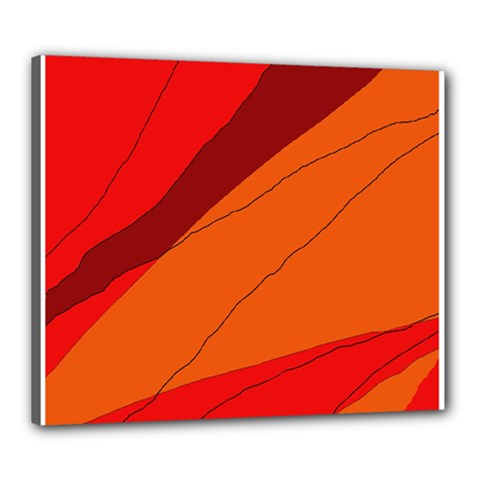 Red and orange decorative abstraction Canvas 24  x 20