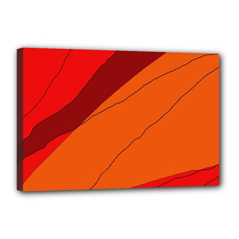 Red and orange decorative abstraction Canvas 18  x 12