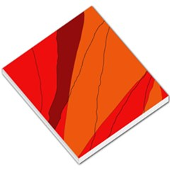 Red and orange decorative abstraction Small Memo Pads