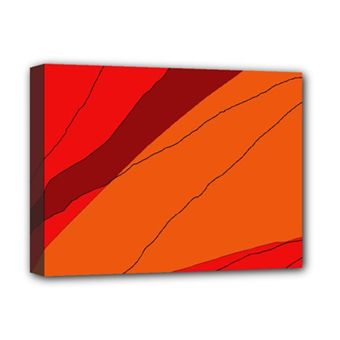 Red and orange decorative abstraction Deluxe Canvas 16  x 12