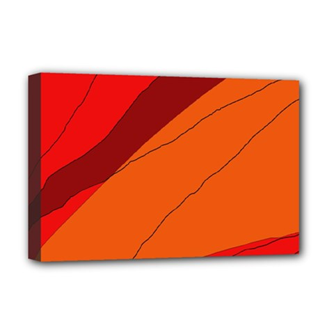 Red and orange decorative abstraction Deluxe Canvas 18  x 12