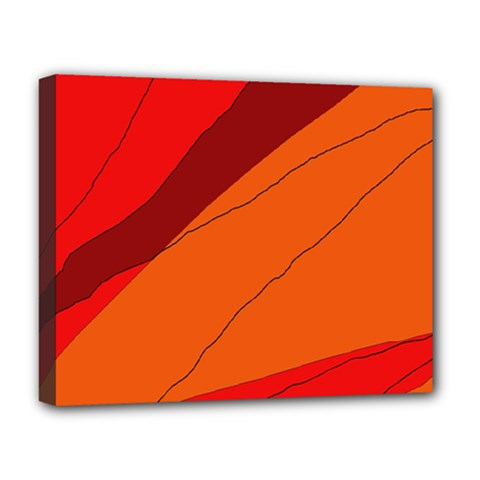 Red and orange decorative abstraction Deluxe Canvas 20  x 16