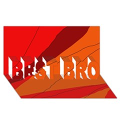 Red and orange decorative abstraction BEST BRO 3D Greeting Card (8x4)