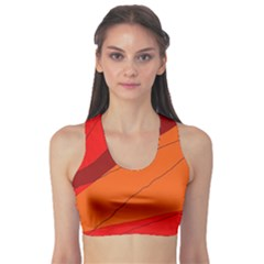 Red and orange decorative abstraction Sports Bra