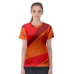 Red and orange decorative abstraction Women s Sport Mesh Tee