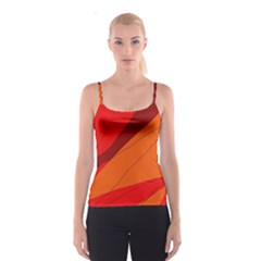 Red and orange decorative abstraction Spaghetti Strap Top