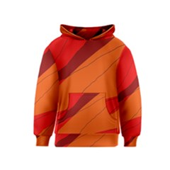 Red and orange decorative abstraction Kids  Pullover Hoodie