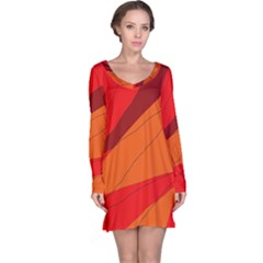 Red and orange decorative abstraction Long Sleeve Nightdress