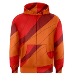 Red and orange decorative abstraction Men s Zipper Hoodie